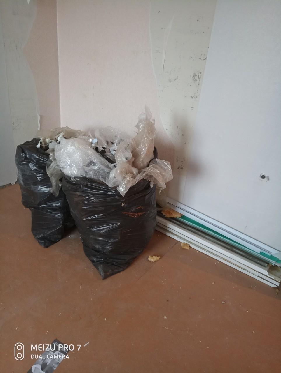 Освободить квартиру от хлама и вещей с укладкой в мешки